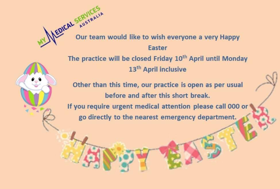 Happy Easter Message My Medical Services Kurri Kurri & Port Stephens